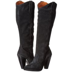 4b9a97080293ed Frye Madeline Tall (Black Oiled Suede) Women s Zip Boots ( 280) ❤ liked