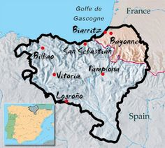 Basque Country is where Pinchos come from Major cities Bilbao