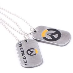 Overwatch Logo Dog Tag Necklace or Keychain