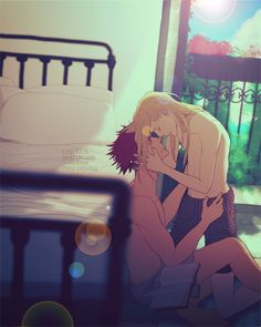 """""""Sasha""""That moment you want express how much you care about somebody but can't find the proper words. But Yuri finds one. And he knows Alex will understand how much this means to him.Yuralex from my Leroy siblings HEADCANON, Alex is JJ's older. Cute Gay Couples, Anime Couples, Cute Anime Coupes, Yurio And Otabek, ユーリ!!! On Ice, Yuri Plisetsky, Shounen Ai, Yuri On Ice, Cute Drawings"""