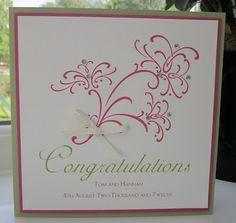 Stampin' Up UK Demonstrator Sarah-Jane Rae Cards and a Cuppa blog: Retiring Wedding Sweet for Hannah