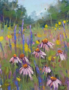 Painting my World: Pastel Demo ... Painting a Tangle of Wildflowers