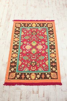 beautiful colors, magenta, orange, turquoise, brown #rug