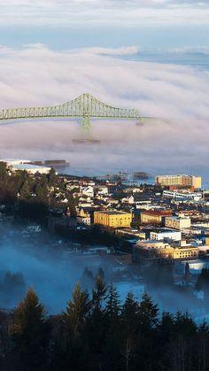 Beautiful Astoria, Oregon via keenah whisnant