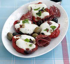 Mozzarella peppers with chunky Italian dressing recipe - Recipes - BBC Good Food