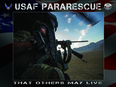 """US Military Air Force Pararescue """"That Others May Live"""" poster"""
