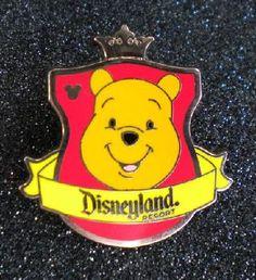 Disney DLR 2012 Hidden Mickey Series Crest Banner Winnie Pooh Bear Pin