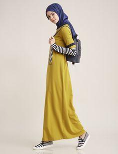 Baskılı Spor Elbise Oliv B7 23096