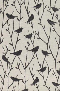Gray bird material from homedecorators.cim...headboard material?