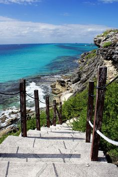 Stairway near the Garrafon Park Zipline, Isla de Mujeres, Mexico