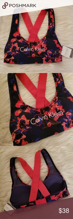 NWT* Gorgeous Calvin Klein Floral Brallette* NWT* Calvin Klein Floral Bralette* Stunning colors & Design* Lightly Padded & Absolutely Gorgeous* Use for a stylish outfit, gym, lounge wear, versatility & comfort* Size : Small*  Reasonable offers accepted* No low balls*  Bundle & Save* Calvin Klein Other