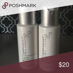DermaQuest ✨ 2 Cleanser Bundle ✨ Bundle includes C Lipoic Cleanser & Beta Hydroxy Cleanser! Both are excellent products! Sephora Makeup