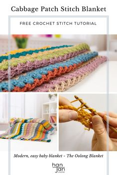 Learn to crochet the cabbage patch stitch with this beginners step by step tutorial by HanJan Crochet. Create a delicate fabric perfect for blankets, scarves and tops. The stitch tutorial includes a free blanket crochet pattern in beautiful vibrant colours, a great project for mindfulness and calm. #learntocrochet #crochettsitch #cabbagepatchcrochetstitch Blanket Stitch, Crochet Blanket Patterns, Stitch Patterns, Crochet Blankets, Learn To Crochet, Easy Crochet, Free Crochet, Beginner Crochet, Crochet Cable Stitch