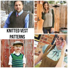 It's easy enough to dress for extreme weather: sleeveless shirts for the hot summer days, heavy sweaters for the chilly winter. But transitioning from one season to another can be a little trickier. Make a smooth transition from summer to fall with these weather-ready knitted vest patterns.