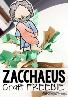 The story of Zacchaeus is a wonderful Bible story to help teach children kindness. He was a man no one really liked but Jesus went to his house. Come grab this free printable Bible craft to go along with your next lesson about Zacchaeus. Bible Story Crafts, Bible School Crafts, Bible Crafts For Kids, Vbs Crafts, Preschool Crafts, Bible Stories, Hero Crafts, April Preschool, Jesus Crafts