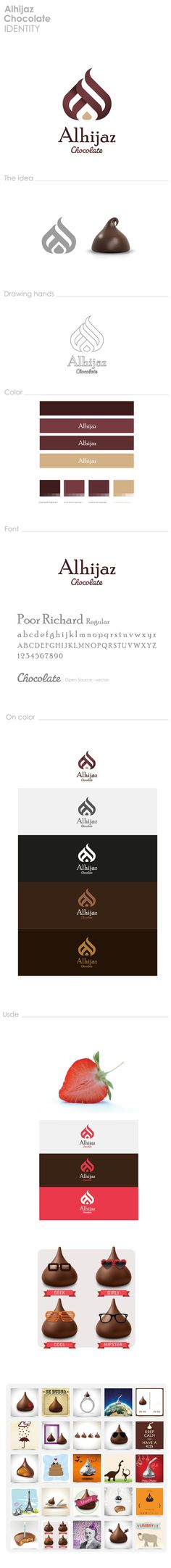 Alhijaz Chocolate by Ahmad Nabil, via Behance