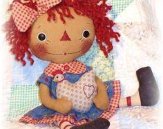 Rag Doll PATTERN PDF pattern Sewing Cloth Doll от OhSewDollin