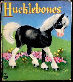 "1940's ""HUCKLEBONES"" Rare Whitman Cozy Corner Book."