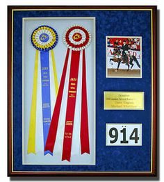 Horse show ribbon ideas.  From Five O'Clock Somewhere: March 2009  Make one for each fair every year: Lancaster, Deerfield, & Cheshire