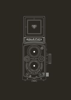 Rolleiflex, Illustration by David Shenberger