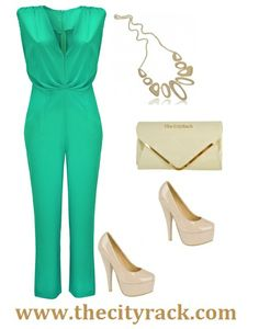 Everyone will be green with envy when they see you in this stunning mint green jumpsuit. The feminine colour is flirty and fun and is bang on-trend for SS14. The V-neck shape and gathered waistline is super flattering for all shapes and sizes. Wear with some nude platforms, a matching clutch bag and layers-upon-layers of glam gold jewellery and you're guaranteed that all eyes will be on you! Playsuits, Jumpsuits, Playsuit Romper, Beauty Hacks, Beauty Tips, Cool Outfits, Clothes Combinations, Hair Beauty, Feminine