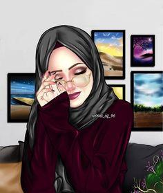 My darling husband I miss you so much please come home soon darling Meri Zindagi Meri jaán 🌹🌹🌿🌿🌹🌹🎼🎵🎶🙋💏 Girly M, Hijabi Girl, Girl Hijab, Ideas Hijab, Sarra Art, Hijab Drawing, Islamic Cartoon, Anime Muslim, Hijab Cartoon