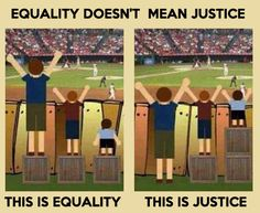 "This is how I'll be teaching my ""fair means everyone gets what they need"" lesson (this picture minus the words)"