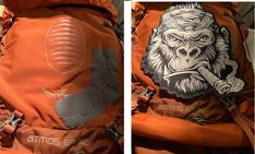 #Osprey just repaired my #backpack for free.  Thanks for that!  Thinking about covering up the patch job with this guy.