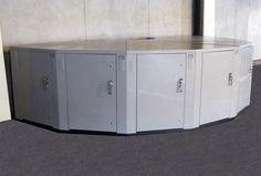 Dura Bike Locker™ Pie Shaped Bicycle Storage Lockers. Stackable!