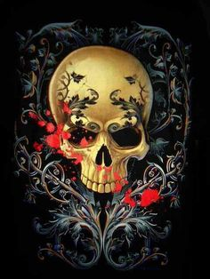 Fancy Skull uploaded by Char on We Heart It Human Skeleton, Human Skull, Badass Skulls, Totenkopf Tattoos, Skull Pictures, Candy Skulls, Sugar Skulls, Skull Artwork, Sugar Skull Tattoos