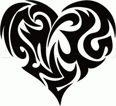 Only the best free Large Tribal Heart Tattoo Sketch tattoo's you can find online! Large Tribal Heart Tattoo Sketch tattoo's to print off and take to your tattoo artist. Tribal Drawings, Cool Art Drawings, Art Drawings Sketches, Tribal Art, Tattoo Drawings, Heart Drawings, Tribal Heart Tattoos, Heart Tattoo Designs, Heart Designs