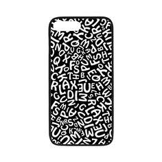 Alphabet Black and White Letters Rubber Case for iPhone 7 plus White Letters, Iphone 7 Plus, Alphabet, Iphone Cases, Black And White, Blanco Y Negro, Black White, Alpha Bet, Black N White