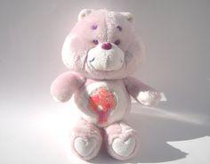 Vintage Care Bear Share Bear with Original Soda by ManateesToyBox, $12.85