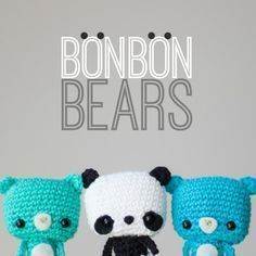 Tiny Bonbon Bears Amigurumi -Free English Pattern
