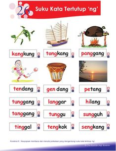 petua asas membaca Kindergarten Test, Kindergarten Reading Activities, Preschool Writing, Phonics Activities, Kids Math Worksheets, 1st Grade Worksheets, Reading Worksheets, Alphabet Worksheets, Malay Language
