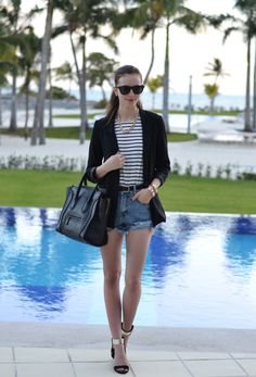 "VOGUE HAUS: outfits- ""Shorts and Stripes"""