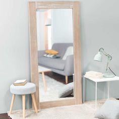 Miroir cérusé en paulownia 160x80 | Maisons du Monde