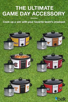 Tailgate in style with a game-day Slow Cooker boasting your favorite NCAA team. Choose from team branded crock-pots that are perfect for sideline favorites like chili, soups, dips and more. Show off your team spirit today. Find your team at Belk.com and start cooking with school spirit.