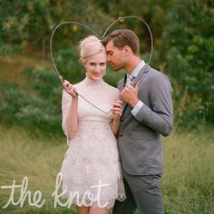 The perfect dress for the reception, by Manuel Mota. How cute is this photo idea too?!