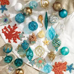 60-pc. Coastal Cool Ornament Collection
