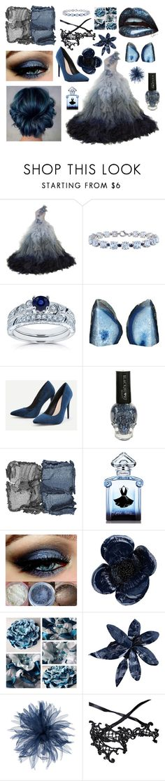 """""""Masquerade"""" by ready-for-the-rain ❤ liked on Polyvore featuring Marchesa, Miadora, Other, NARS Cosmetics, Guerlain, Erika Cavallini Semi-Couture, Le Tricot Perugia and WithChic"""