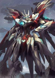 Intara Krutta Drive by zersphaiz on DeviantArt Arte Gundam, Gundam Art, Robot Concept Art, Armor Concept, Character Art, Character Design, Mecha Suit, Gurren, Gundam Wallpapers