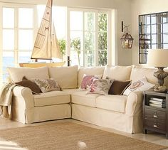 PB Basic Slipcovered 3 Piece Sectional | Small Sectional, Pottery And Barn