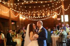 First dance under the beautiful lights! The Barns at Wesleyan Hills decor, Jewel Photo, 2015