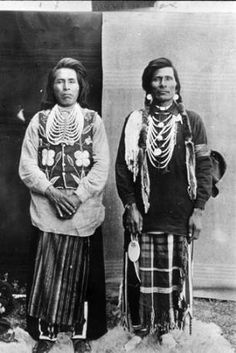Colville men David Nanamkin & Peter Paul, Washington :: American Indians of the Pacific Northwest -- Image Portion