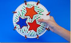 Paper Plate Tambourine Craft: staple paper plates together and put beans inside, punch holes in it for kids to attach bells with pipe cleaners, kids can decorate the tambourines with markers and stickers. Use Psalm 100 for devotion