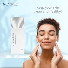 Keep your skin clean and healthy with NLIGHTEN FACIAL CLEANSER Cleanser For Sensitive Skin, Natural Facial Cleanser, Best Anti Aging, Anti Aging Skin Care, Acne Treatment, Good Skin, Moisturizer, Healthy, Natural Face Cleanser