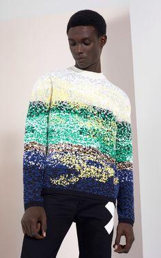 Dune Camo  Sweater, , KENZO