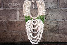 LIVRAISON dans le monde du 10USD Papouasie LONG collier avec véritable coquillage, collier de coquil