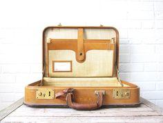 Vintage Leather Briefcase - Caramel Wilt of Chicago Attache Portfolio - Mad Men Style Office Luggage